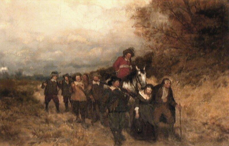Fanger og fangevoktere i landskap