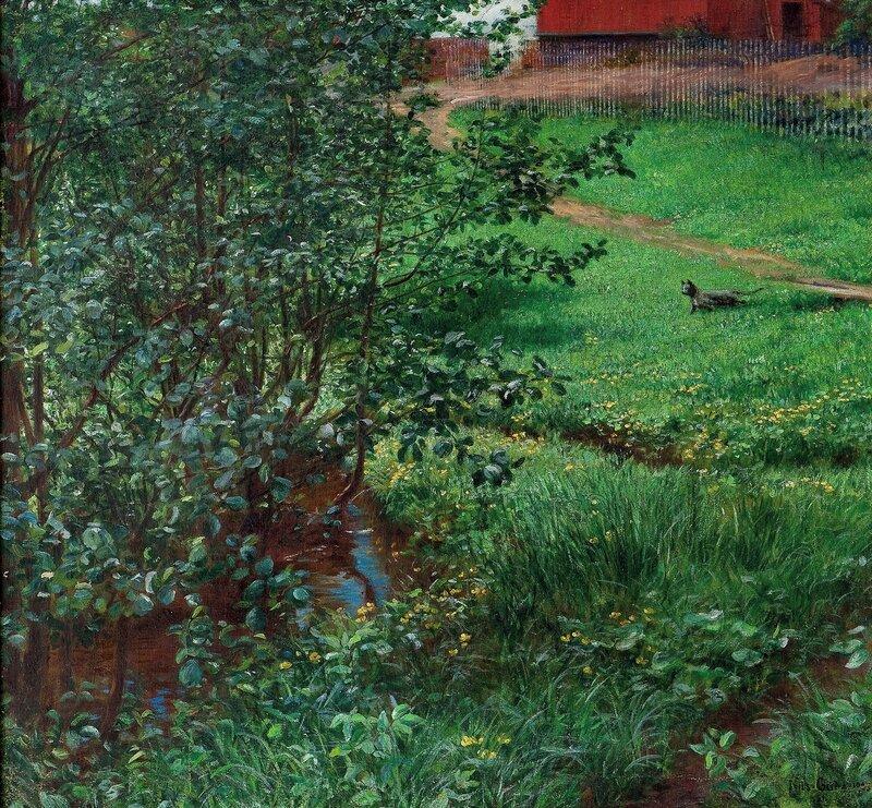 Landskap med katt 1903