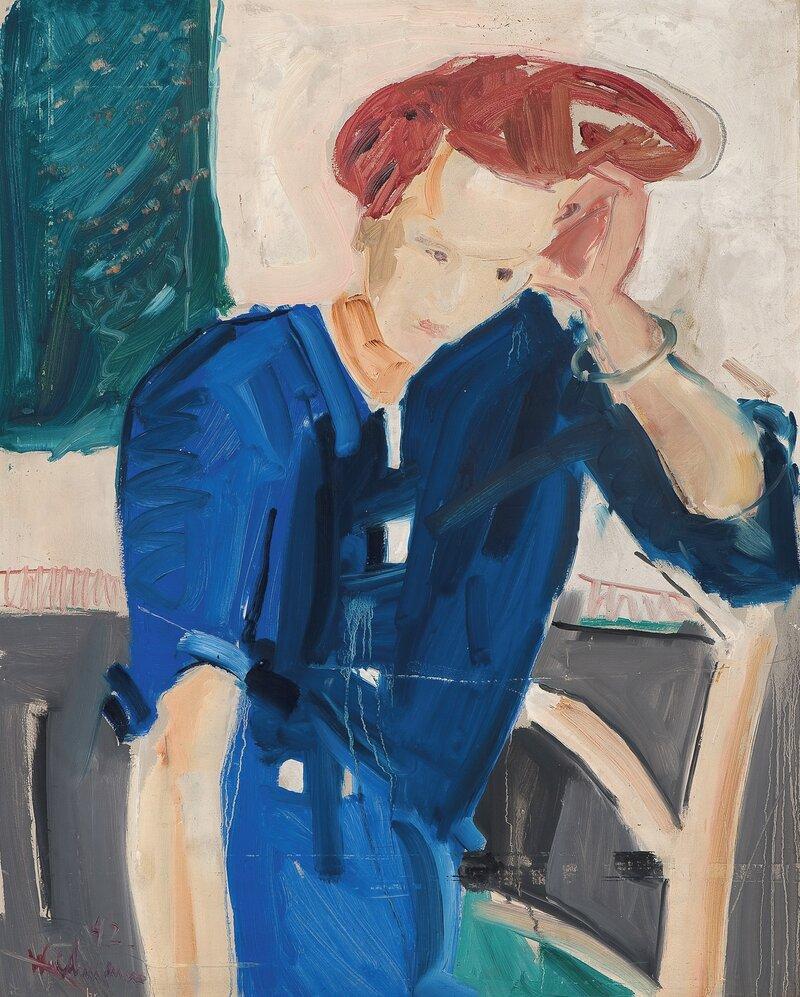 Sittende kvinne 1942