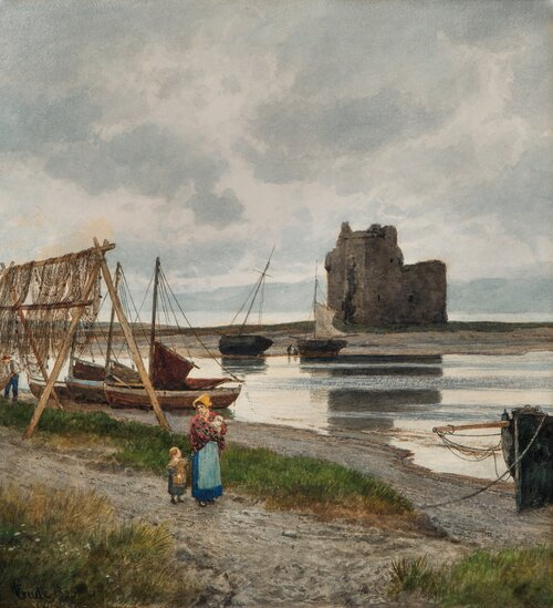 By the waters edge, Scotland 1885