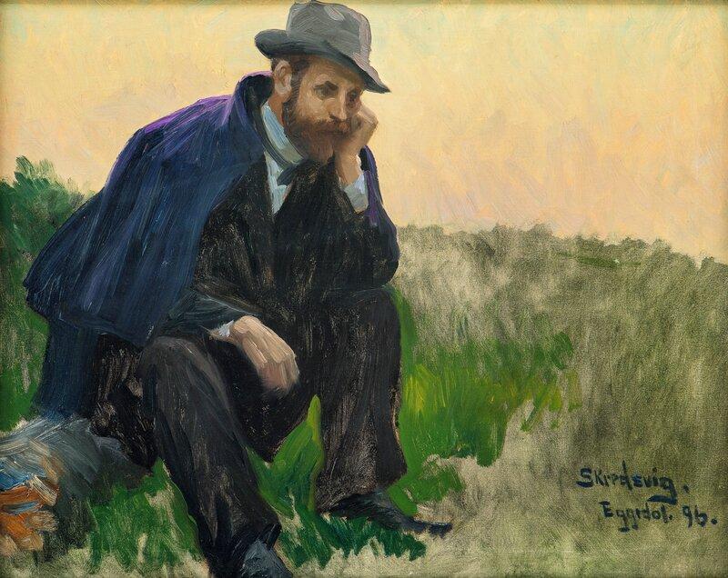 Jørgen Moe på fisketur I 1896