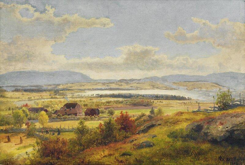 Parti fra Ask på Ringerike 1848